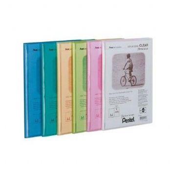 A4 PRESENTATION DISPLAY BOOK PORTFOLIO FOLDERS with 20 Clear Pockets by Pentel